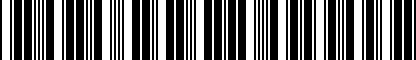 Barcode for DRG003989